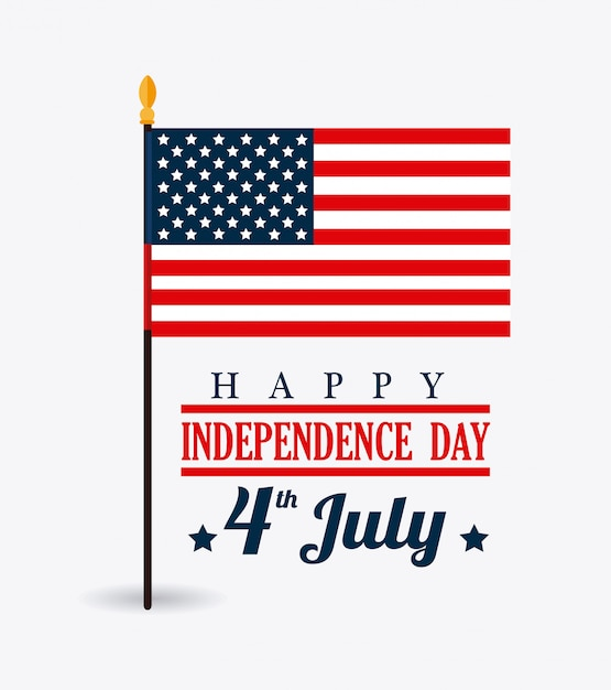 Usa design. independence day 4th july Free Vector