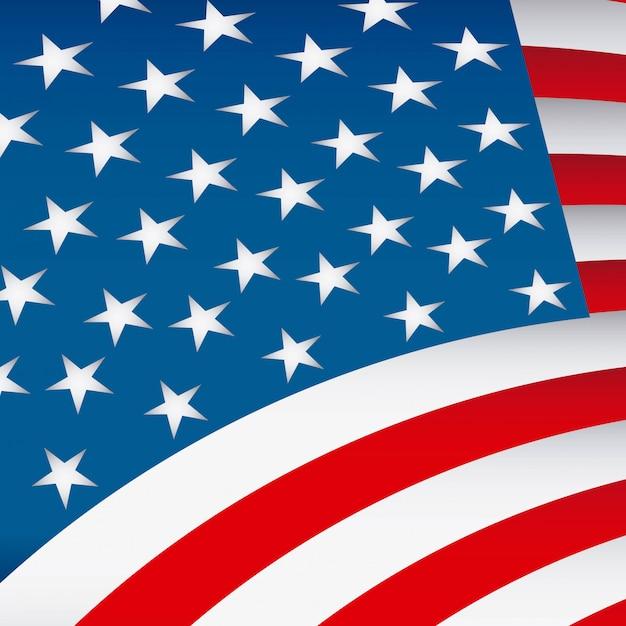 Usa flag design vector illustration Premium Vector