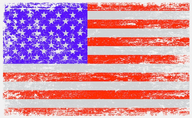 Usa flag in grunge style Premium Vector