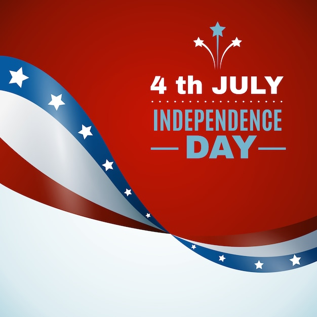 Usa independence day background Free Vector