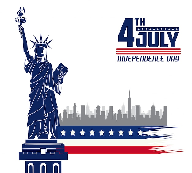 Usa independence day card Premium Vector