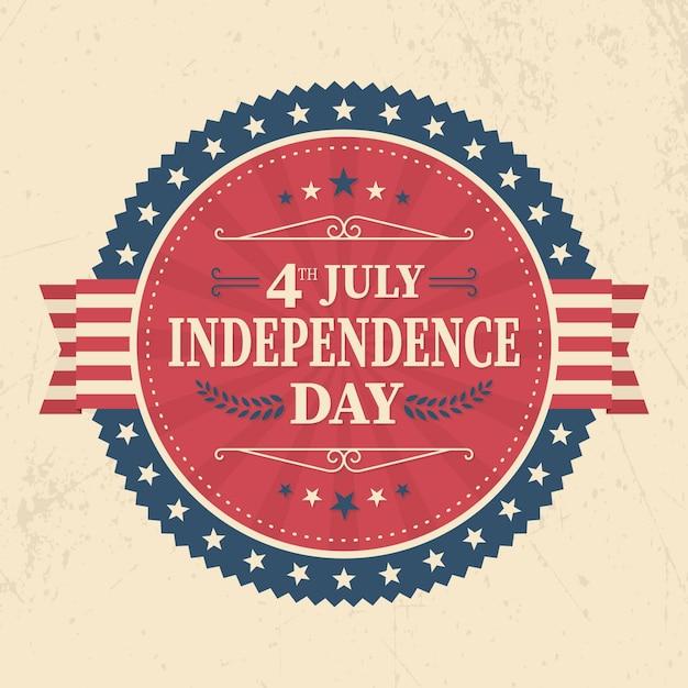 Festa dell'indipendenza degli stati uniti in stile vintage Vettore gratuito