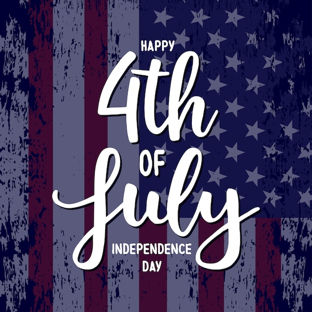 Usa independence day. Premium Vector