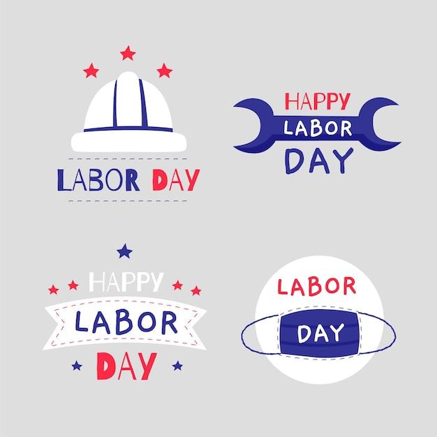 アメリカ労働者の日バッジ 無料ベクター
