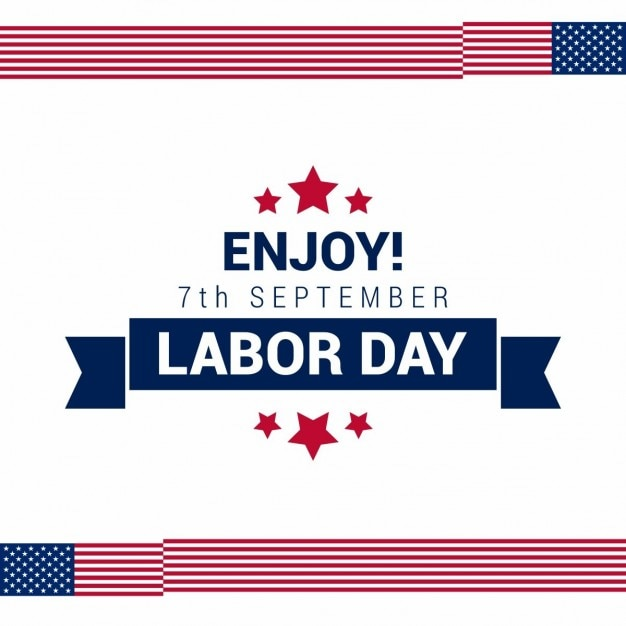 Usa labor day card