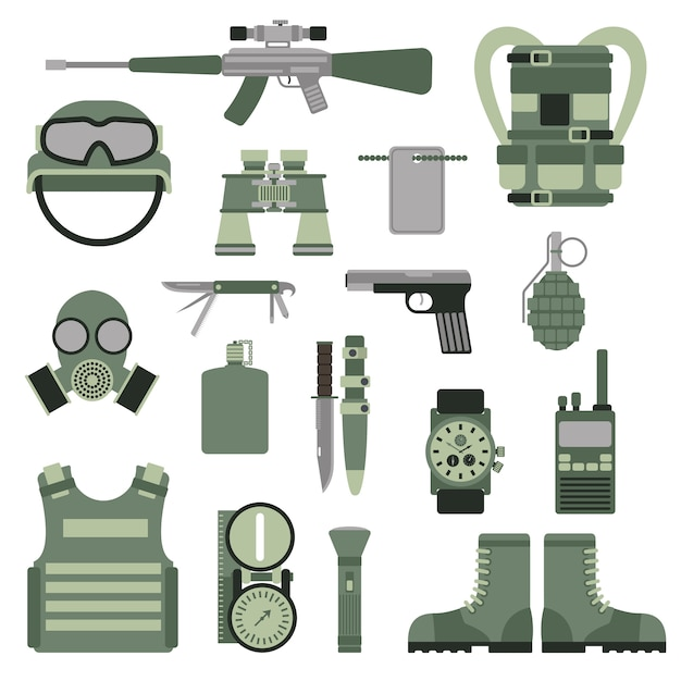Usa or nato troop military army symbols Premium Vector
