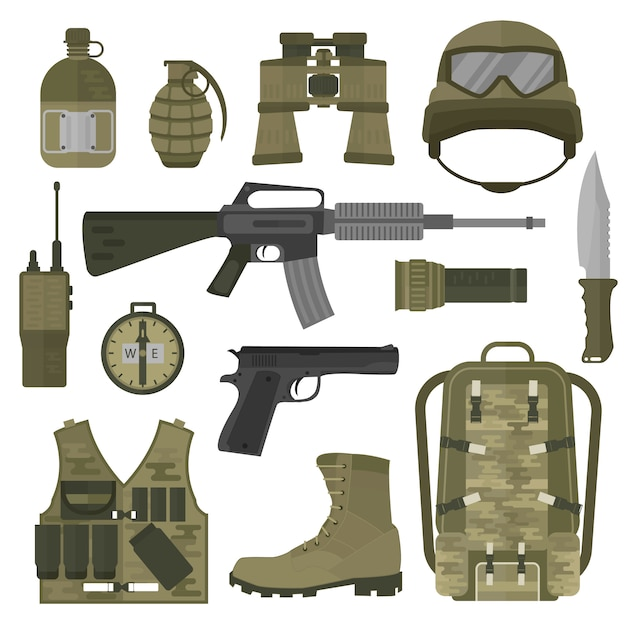 Usa or nato troop military army symbols Vector | Premium