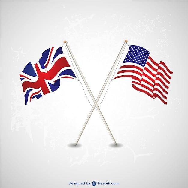 Resultado de imagem para imagens American and english flag freepik
