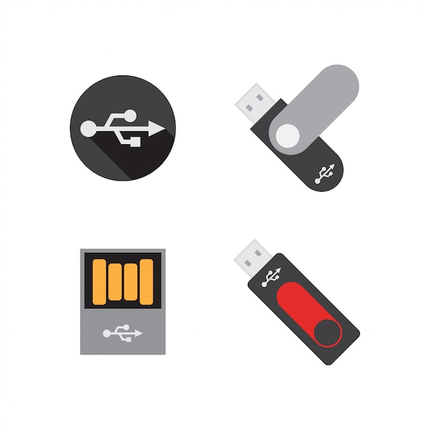 Usb flashdisk graphic design template Premium Vector