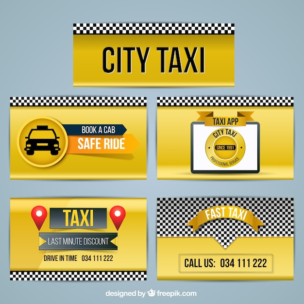 Useful banners for taxis