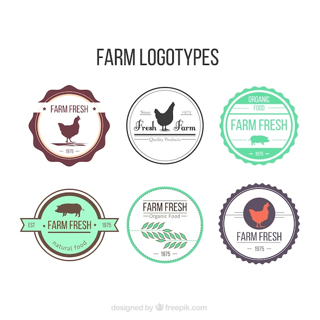 Useful farm logos Vector | Free Download