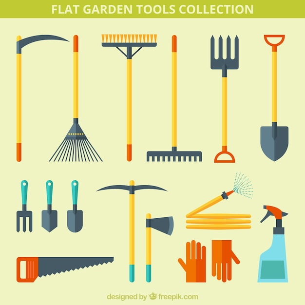 Rake vectors photos and psd files free download for Gardening tools vector
