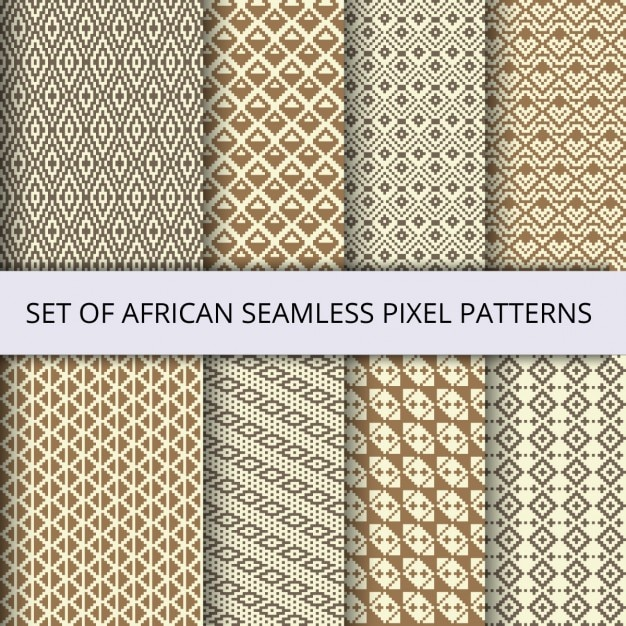 Useful pixel patterns Free Vector