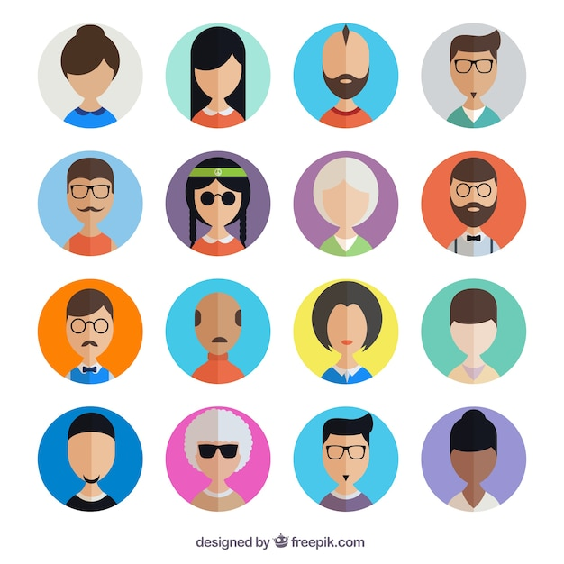 User Avatar Collection Free Vector