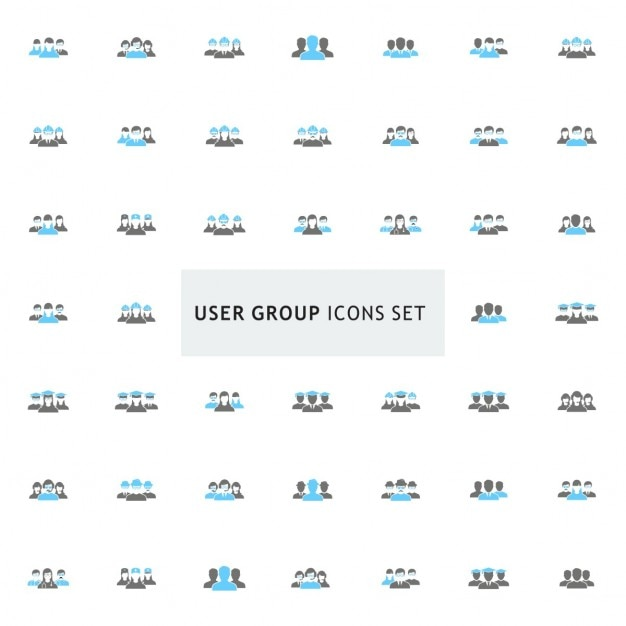 User group icon set Free Vector