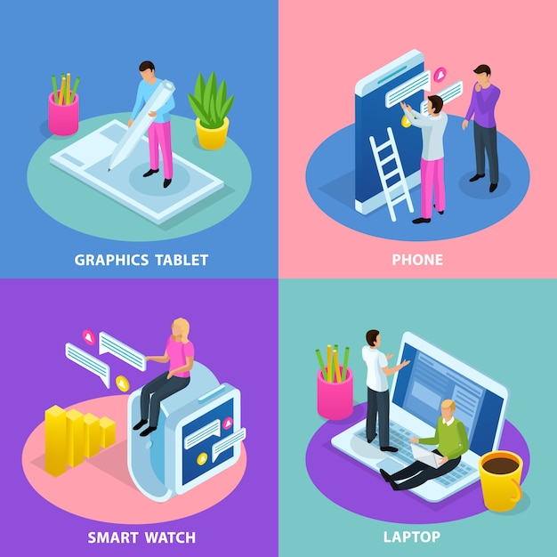User interface concept illustration Free Vector