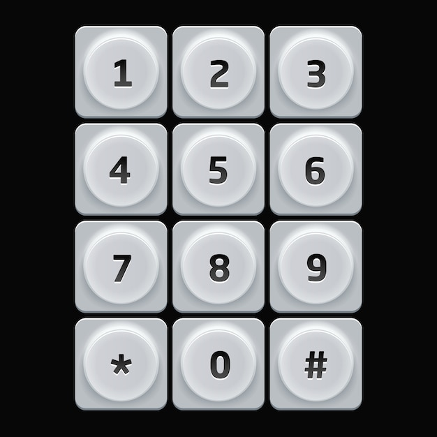 User interface keypad for phone Premium Vector