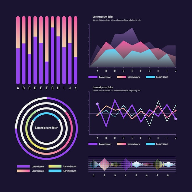 User panel dashboard template Free Vector