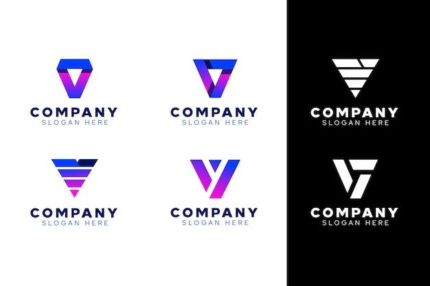 V коллекция логотипов Бесплатные векторы