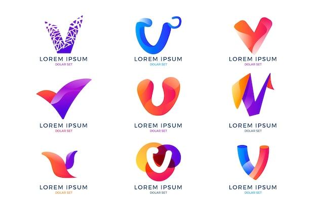 Vロゴコレクション Premiumベクター