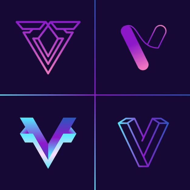 Коллекция логотипов v Premium векторы