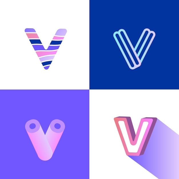 V логотип Бесплатные векторы