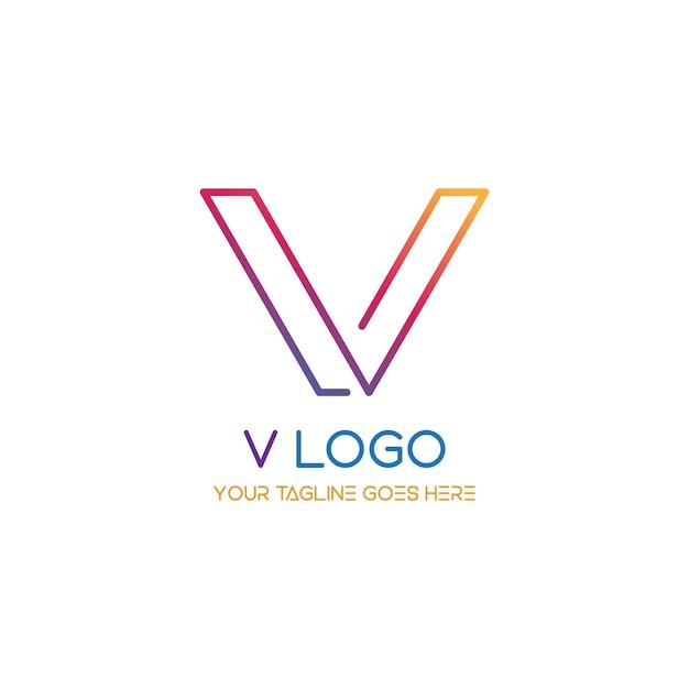 V logo vector free download for Logo download free online