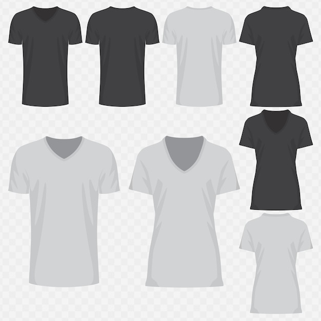 477cc0f2 V-neck t-shirt design Vector | Premium Download