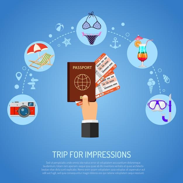 Концепция отдыха и туризма Premium векторы