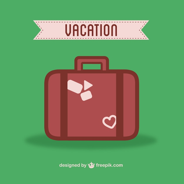 Vacation suitcase Free Vector