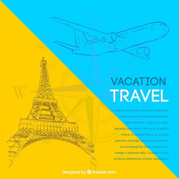 Vacation travel background