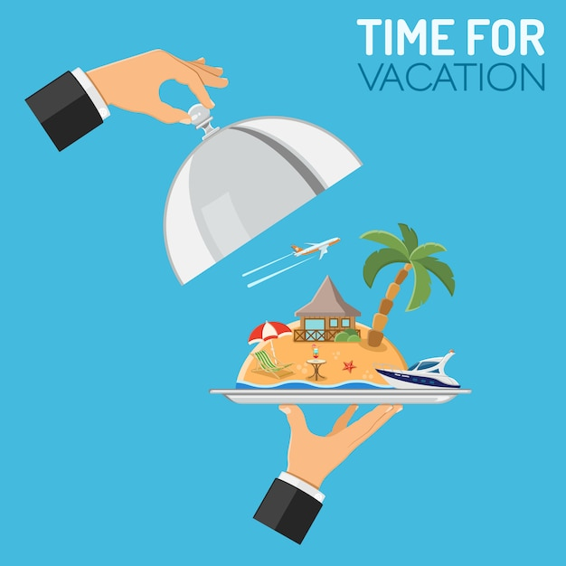 Vacation and trip concept Premium Vector