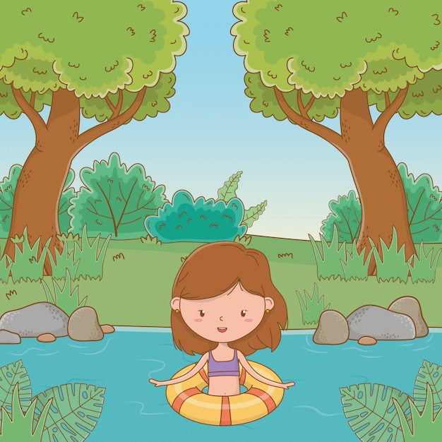 Vacations and summer outdoor time Free Vector