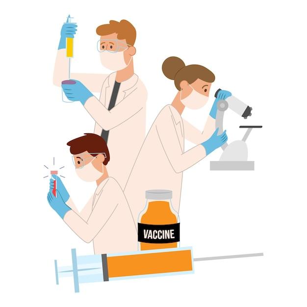Vaccine development concept Free Vector