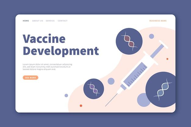 Целевая страница разработки вакцины Бесплатные векторы