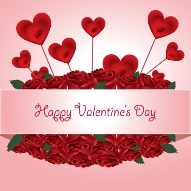 Valentine Background Design Vector Free Download