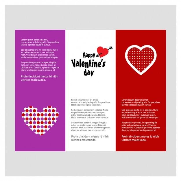 Valentine Brochure Template Vector Free Download