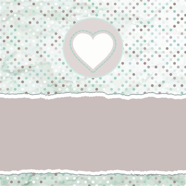 Валентинка с сердцем. Premium векторы