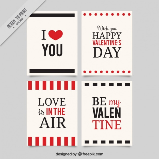 Valentine cards with love messages