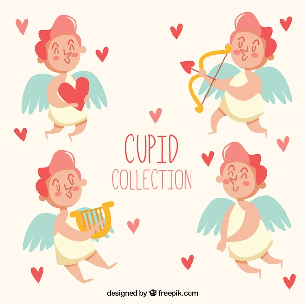 valentine cupid collection free vector