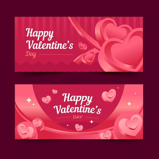 Modello di banner di san valentino Vettore gratuito