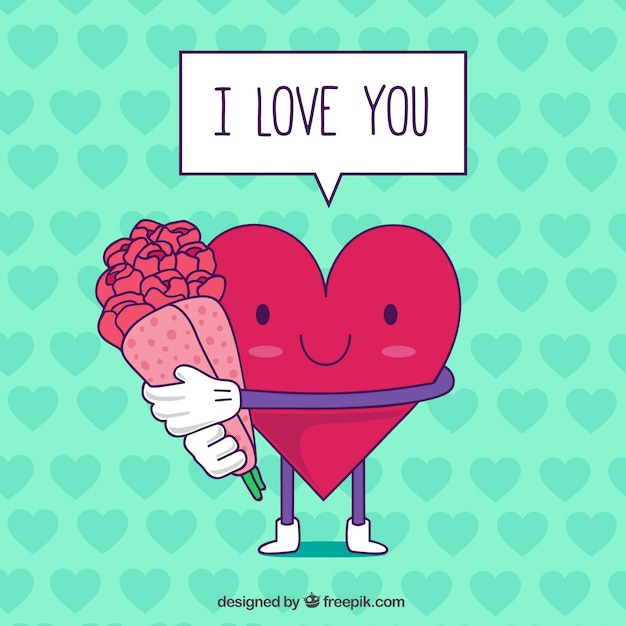 valentine day card with heart premium vector - San Valentine Day