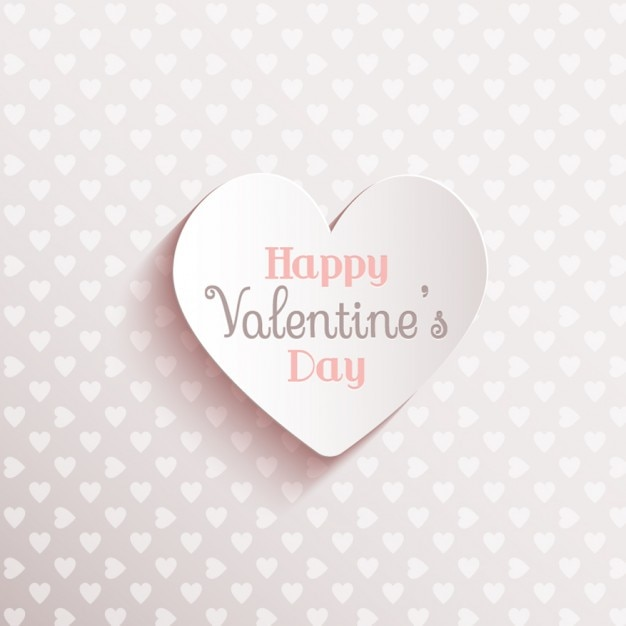 Valentine day on a cute white background Free Vector