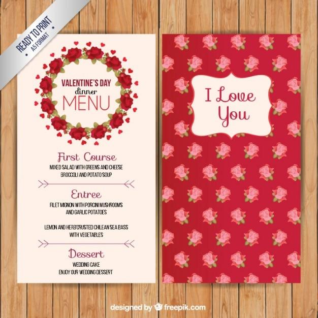 Valentine Day Dinner Menu