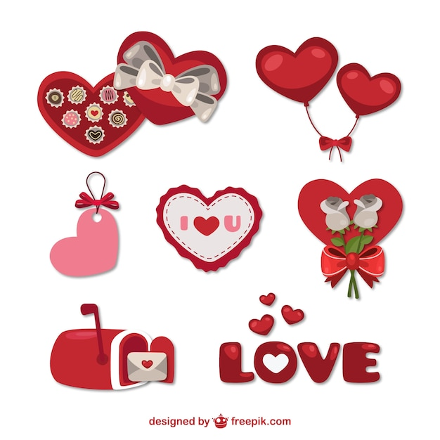 Valentine Day Gifts Vector Free Download