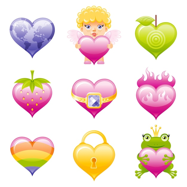 Valentine day icon. Premium Vector