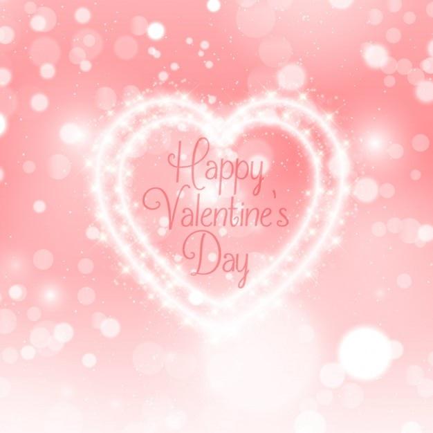 Valentine day light heart background