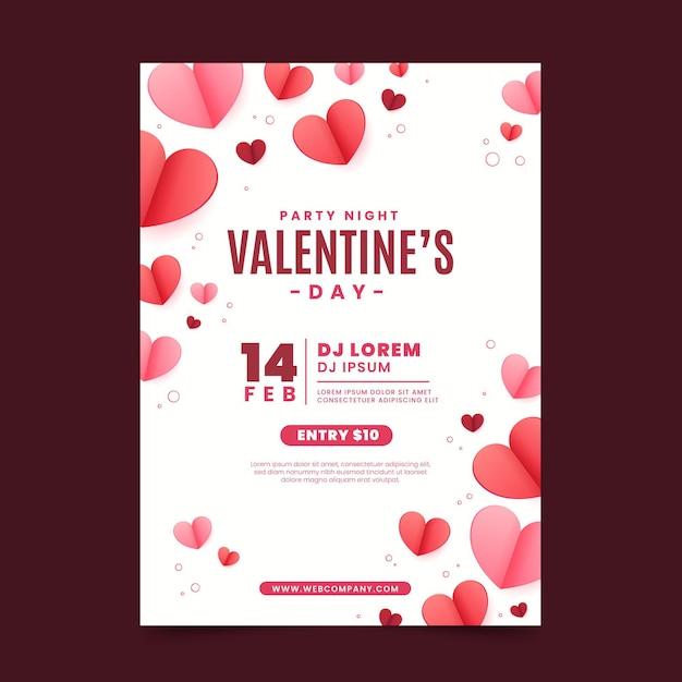 Флаер на день святого валентина Premium векторы