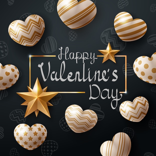 Valentine day template Premium Vector