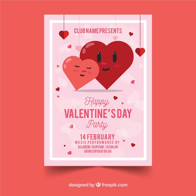 Valentine Flyer Template Vector Free Download